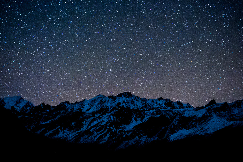 Starry nightsky in Himalaya